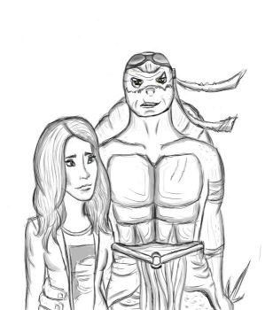Raph and April by Elixa29