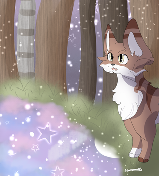 Leafpool finding the moon pool by Flamemuzzle