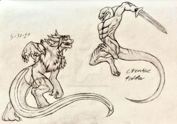 Sparring Match [Request] by CreativeFiddler