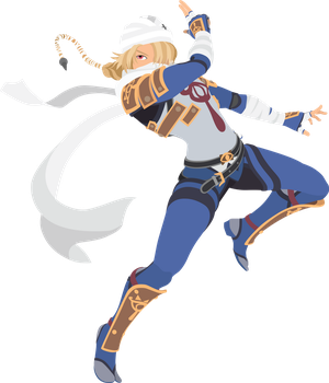 Sheik - 16 : Smash Bros Ultimate - Vector Art by firedragonmatty