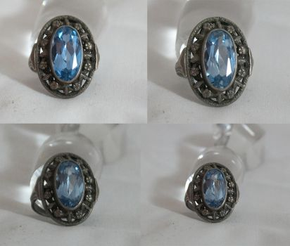 Ring blue set by DemonsChain-Stock