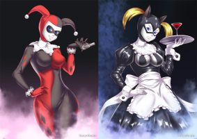 Harley Quinn (before-after) by HaryuDanto