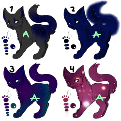 Cat Adopts #1 (Space theme) Flat sale [OPEN 4/4] by angel-does-art