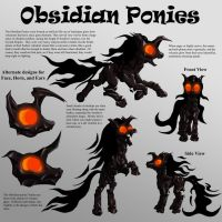 Obsidian Ponies Character Sheet by Starbat