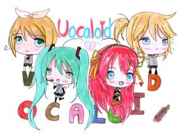vocaloid family by Animecakie