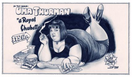 Uma Thurman's Plump Fiction by JayTee-FAArtist