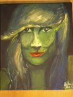 Selfpotrtait on canvas by JulldeSnul