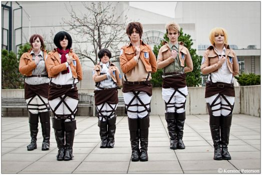 Snk: Soliders In Training by CosplayerWithCamera