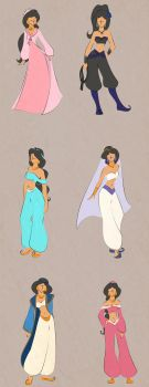 Jasmine - Various Outfits by scaragh