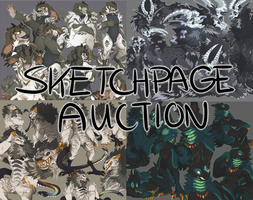 DUAL SKETCHPAGE AUCTION || 2 SLOTS [CLOSED] by behemutt