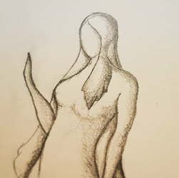 Woman Figure Drawing 6.6.17 by Gindew