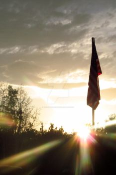 Flag Sunrise by JacobMcClure