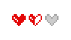 Pixel Hearts (Health) by Megalomaniacaly
