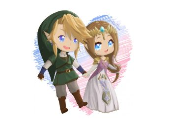 Link n Zelda Twilight Princess Valentine's Couple by AkiraPierrot