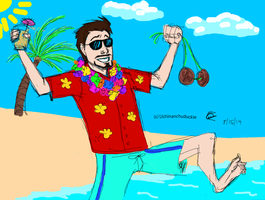 Aloha, Tony Stark! by UchinanchuDuckie