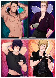 Chocobro Pin-Up Valentines by neomeruru