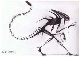 Old Art: I like XENOMORPHS by Cemetary-BIOCure