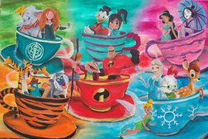 Spinning Tea Cup Party 2 by billywallwork525