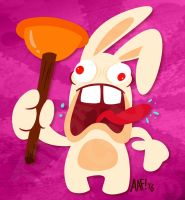 Here have a Rabbid by GagaMan
