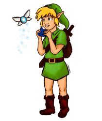 Link Ocarina of Time by Inkstandy
