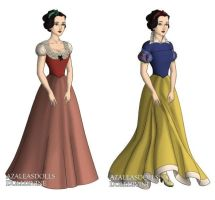 Snow White (Snow White and the7Dwarfs) outfits by sarasarit