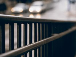 Handrails in Rain by KBeezie