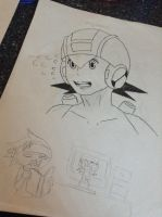 Megaman.EXE (new art style) by WritingwithHearts