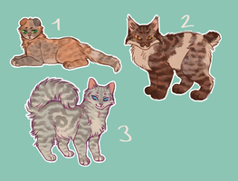 [1/3] Sketchy tabby cat adopts by Mogire
