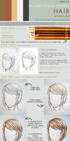 Colored pencils tutorial HAIR part 3 - BLOND by kiko-burza