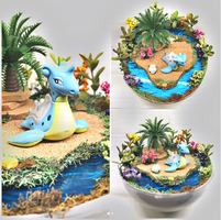 Lapras Tropical Island - Poke Ball Terrarium by TheVintageRealm