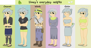 Limey's everyday outfits by FluttzKrieg