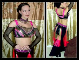 Durga fusion Costume in Pink by ArmouredRaven