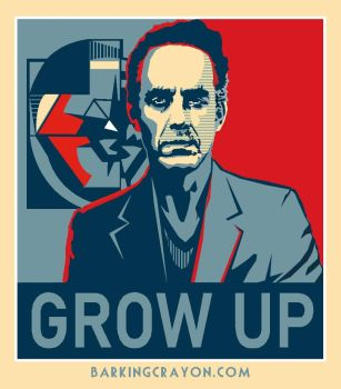 Jordan Peterson Poster: Grow Up by Conservatoons