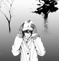 Death Note - L in Snow by kelvarin