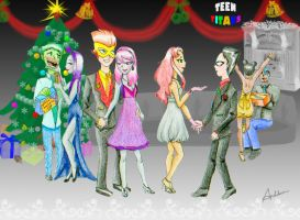 Teen Titans Christmas Ball by AnhPho