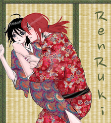 Renji-Rukia-laying-9 by NettieMuse7609