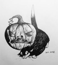 The Cat and the Pumpkin by JackOrJohn
