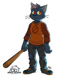 cat with a bat by AdriOfTheDead