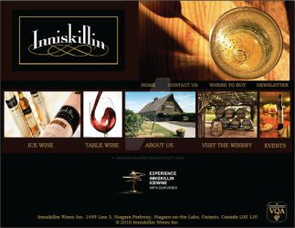 Inniskillin Winery Web Layout by AbominableInk