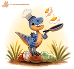 Daily Paint #1220. Oviraptor by Cryptid-Creations