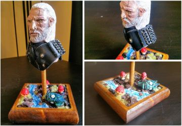 Geralt of Rivia Sculpture - the Witcher by makerforge