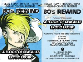A Flock Of Seagulls - Gig Poster by LaserDatsun