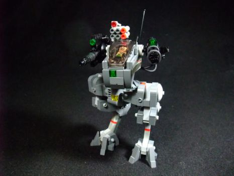 TRANSIENT Combat Mech by The-Crimson-Wolf