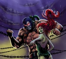 Bane and Poison Ivy by Salamandra88