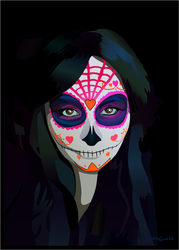Katie Alves - Sugar Skull by Hellyon-Works