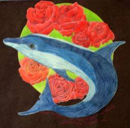 The Dolphin in the Roses by anime-realm