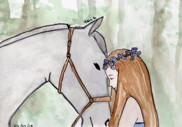 The Girl and her Horse by LooneyDreamer