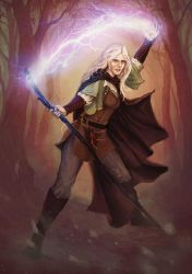 Elven Mage by yuhime