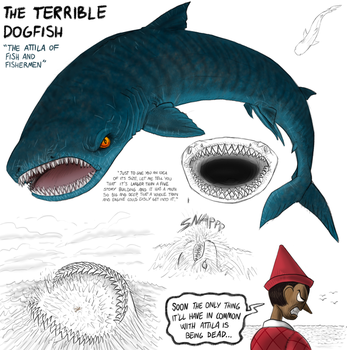 Evilokio: The Terrible Dogfish by killb94
