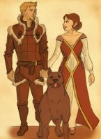 King Alistair and Queen Cousland by BluErunn